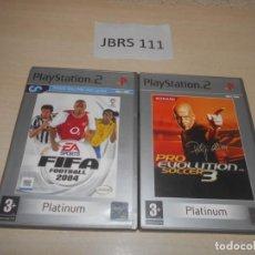 Videojuegos y Consolas: FIFA FOOTBALL 2004 + PRO EVOLUTION SOCCER 3. Lote 234574590