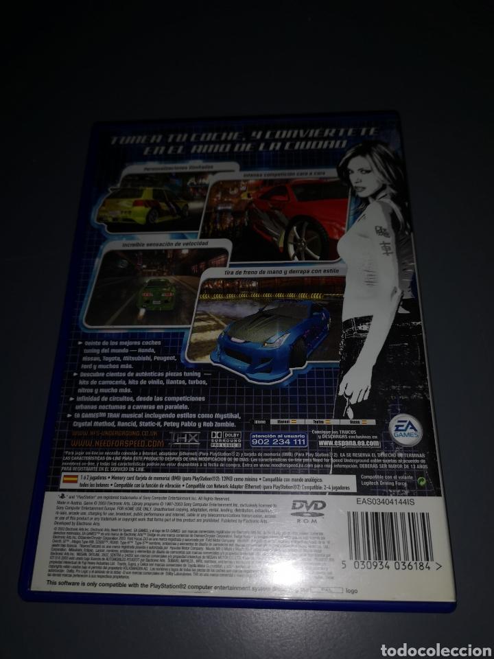 Videojuegos y Consolas: XA4. JUEGO PLAYSTATION 2. NEED FOR SPEED UNDERGROUND - Foto 2 - 234810570