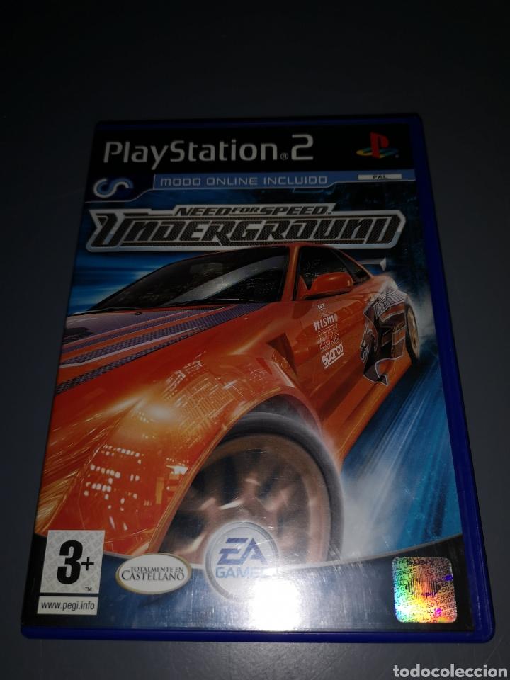 XA4. JUEGO PLAYSTATION 2. NEED FOR SPEED UNDERGROUND (Juguetes - Videojuegos y Consolas - Sony - PS2)