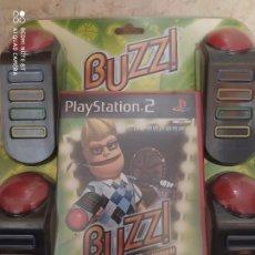 Videojuegos y Consolas: PS2 - BUZZ EL GRAN CONCURSO DE DEPORTES + 4 PULSADORES MANDOS CON CABLE. Lote 235191015