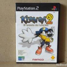Videojuegos y Consolas: JUEGO SONY PLAYSTATION 2 - PAL / ESP - KLONOA 2 EL MUNDO DE LUNATEA - COMPLETO - PS2 - EN CASTELLANO. Lote 235705450