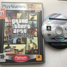 Videojuegos y Consolas: GRAND THEFT AUTO SAN ANDREAS GTA ANDREA PLATINUM PS2 PLAYSTATION 2 PLAY STATION TWO KREATEN. Lote 235813840