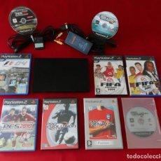 Videojuegos y Consolas: CONSOLA SONY PLAYSTATION 2 SLIM PAL CON JUEGOS. Lote 239610250