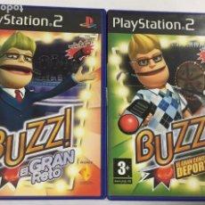 Videojuegos y Consolas: PACK 2 JUEGOS PLAY STATION 2 - BUZZ EL GRAN RETO + BUZZ EL GRAN CONCURSO DEPORTES. Lote 242036500