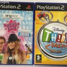 """Videojuegos y Consolas: PACK DE 2 JUEGOS PLAY STATION 2 – SING STAR """"PATITO FEO"""" + DISNEY """"THINK FAST, PIENSA Y ACIERTA"""". Lote 242042555"""