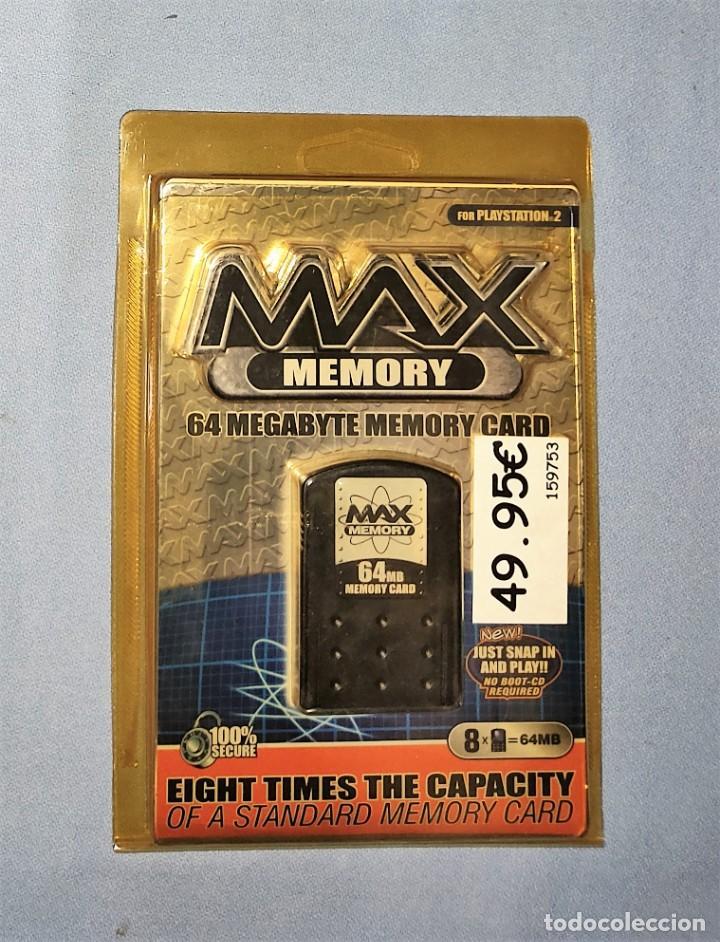 MAX MEMORY CARD 64 MB PARA PLAY STATION 2 PS2 EN SU BLISTER A ESTRENAR (Juguetes - Videojuegos y Consolas - Sony - PS2)