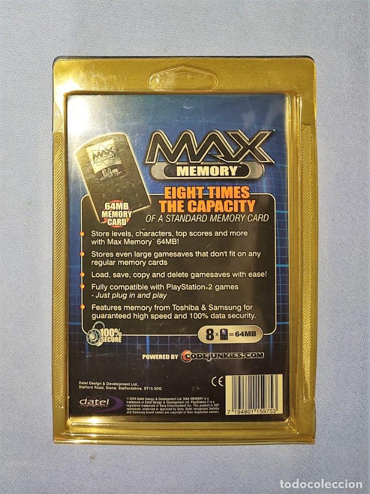 Videojuegos y Consolas: MAX MEMORY CARD 64 MB PARA PLAY STATION 2 PS2 EN SU BLISTER A ESTRENAR - Foto 2 - 243645385