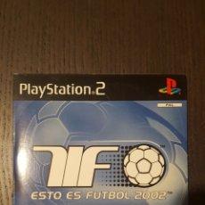 Videojuegos y Consolas: VIDEOJUEGO PS2 - THIS IS FOOTBALL 2002 - DEMO DISC - SONY - PLAYSTATION - SCED-50449. Lote 244584800