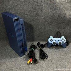 Videojuegos y Consolas: CONSOLA SONY PLAYSTATION 2 AQUA BLUE SCPH 50004+DUALSHOCK 2+AV+AC. Lote 244625385