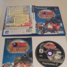 Videojuegos y Consolas: WORMS BLAST PS2 PLAYSTATION 2 COMPLETO PAL-ESPAÑA. Lote 246213535