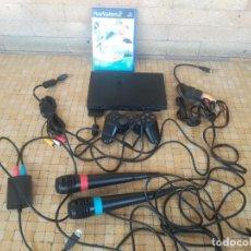Videojuegos y Consolas: LOTE PLAYSTATION 2 SLIM SCPH-70004 CON 2 MICROFONOS JUEGO SINGSTAR, MANDO, TARJET A MEMORIA 8MB. Lote 252536015