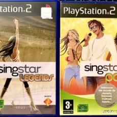 Videojuegos y Consolas: LOTE 2 JUEGOS SINGSTAR LEGENDS Y POP PLAY STATION 2 - PS2 - EN FRANCES FRANCIA - VIDEOJUEGOS CANTAR. Lote 253854925