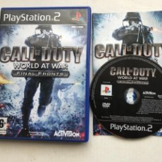 Videojuegos y Consolas: CALL OF DUTY WORLD AT WAR FINAL FRONTS PS2 PLAYSTATION 2 PLAY STATION TWO KREATEN. Lote 254086480