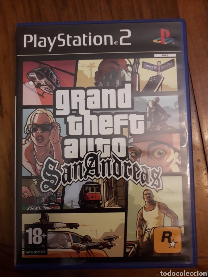 GRAND THEFT AUTO SAN ANDREAS PLAYSTATION 2PS2 JUEGO VIDEOCONSOLA (Juguetes - Videojuegos y Consolas - Sony - PS2)