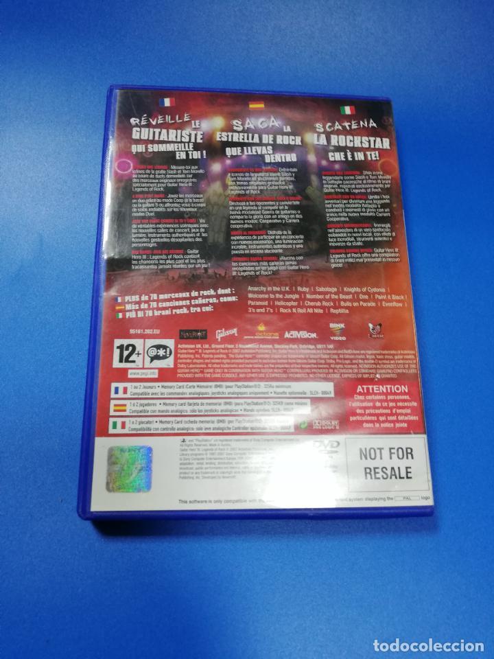 Videojuegos y Consolas: GUITAR HERO III. PLAYSTATION 2. MANUAL Y JUEGO. VER FOTOS. - Foto 3 - 254343100