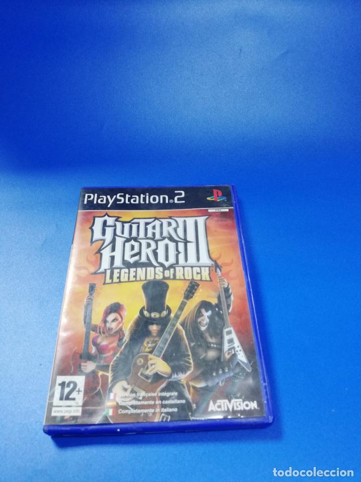 GUITAR HERO III. PLAYSTATION 2. MANUAL Y JUEGO. VER FOTOS. (Juguetes - Videojuegos y Consolas - Sony - PS2)
