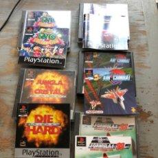 Videojuegos y Consolas: CAJAS ORIGINALES Y LIBROS DEL JUEGO , PLAY STATION, SIN DISCO. Lote 254380425