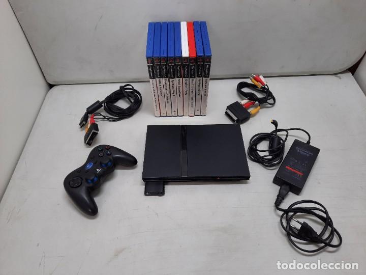 CONSOLA SONY PLASYSTATION 2 CON 9 JUEGOS (Juguetes - Videojuegos y Consolas - Sony - PS2)