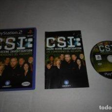 Videojuegos y Consolas: SONY PLAYSTATION 2 PS2 CSI LAS TRES DIMENSIONES DEL ASESINATO. COMPLETO. Lote 256023550