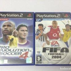 Videojuegos y Consolas: PACK. LOTE . FIFA FOOTBALL 2004 + PRO EVOLUTION SOCCER 4. Lote 256058675
