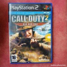 Videojuegos y Consolas: JUEGO DE SONY PLAYSTATION 2 PS2 - CALL OF DUTY 2 BIG RED ONE. Lote 256165660