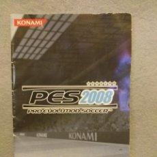 Videojuegos y Consolas: PES 2008 - MANUAL DE INSTRUCCIONES . BUEN ESTADO.. Lote 257907590