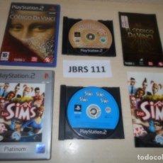 Videojuegos y Consolas: PS2 - LOS SIMS + EL CODIGO DA VINCI , PAL ESPAÑOLES. Lote 261828605