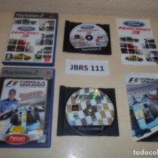 Videojuegos y Consolas: PS2 - FORD RACING 3 + FORMULA ONE 2003 , PAL ESPAÑOLES. Lote 261829900