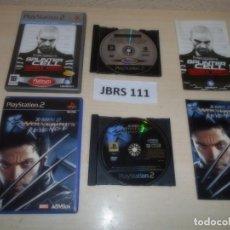 Videojuegos y Consolas: PS2 - SPLINTER CELL DOBULE AGENT + X-MEN 2 , PAL ESPAÑOLES. Lote 261830470