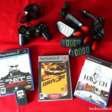 Videojuegos y Consolas: MANDO, JUEGOS, BUZZER Y TARJETA DE MEMORIA PLAYSTATION 2. Lote 261907835