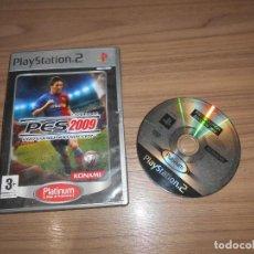 Videojuegos y Consolas: PES 2009 PRO EVOLUTION SOCCER JUEGO PLAYSTATION 2 PAL ESPAÑA. Lote 262187190