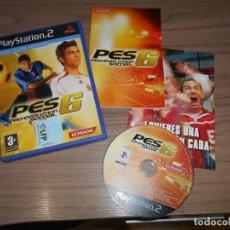 Videojuegos y Consolas: PES 6 PRO EVOLUTION SOCCER COMPLETO PLAYSTATION 2 PAL ESPAÑA. Lote 262187380