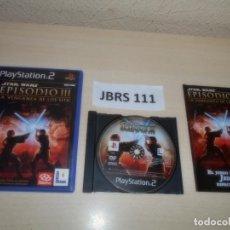 Videojuegos y Consolas: PS2 - STAR WARS - EPISODIO III LA VENGANZA DE LOS SITH , PAL ESPAÑOL , COMPLETO. Lote 262994345