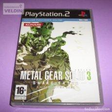 Videojuegos y Consolas: METAL GEAR SOLID 3 SNAKE EATER NUEVO PRECINTADO PAL ESPAÑA PLAYSTATION 2 PS2. Lote 264499239