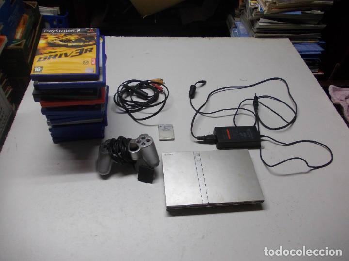 LOTE PS2 CON 17 JUEGOS, TAL CUAL ENCONTRADO Y SEGÚN FOTOS, TODO SIN PROBAR. LA CONSOLA ENCIENDE (Juguetes - Videojuegos y Consolas - Sony - PS2)