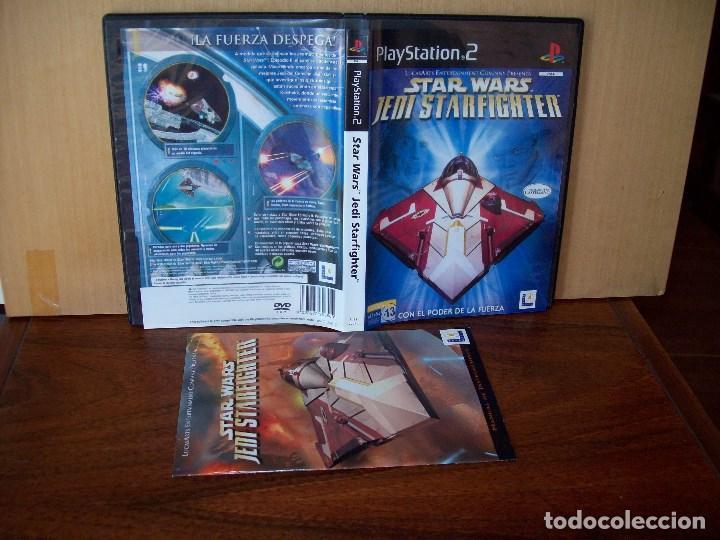 STAR WARS JEDI STARFIGHTER - JUEGO COMPLETO PLAYSTATION 2 (Juguetes - Videojuegos y Consolas - Sony - PS2)