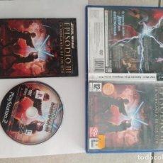 Videojuegos y Consolas: STAR WARS EPISODIO 3 LA VENGANZA DE LOS SITH PS2 PLAYSTATION 2 COMPLETO PAL-ESPAÑA. Lote 268804364