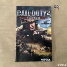Videojuegos y Consolas: H1. MANUAL PS2 CALL OF DUTY 2. Lote 269402803