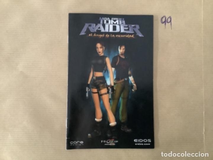 H1. MANUAL PS2 TOMB RAIDER EL ÁNGEL DE LA OSCURIDAD (Juguetes - Videojuegos y Consolas - Sony - PS2)
