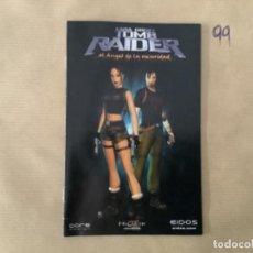 Videojuegos y Consolas: H1. MANUAL PS2 TOMB RAIDER EL ÁNGEL DE LA OSCURIDAD. Lote 269403098