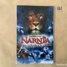 Videojuegos y Consolas: H1. MANUAL PS2 LAS CRONICAS DE NARNIA LEON BRUJA ARMARIO. Lote 269409123