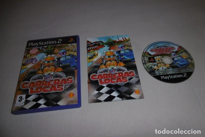 PS2 SONY PLAYSTATION 2 CARRERAS LOCAS COMPLETO. PARA BUZZ! (Juguetes - Videojuegos y Consolas - Sony - PS2)