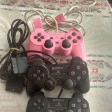 Videojuegos y Consolas: LOTE 3 MANDOS SONY PS2 DUAL SHOCK 2 ORIGINALES PARA REPARAR O PIEZAS. Lote 269823693