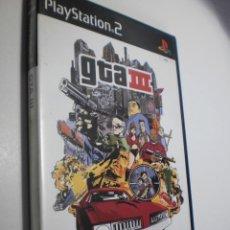 Videojuegos y Consolas: PS2 GTA III, CON PÓSTER, FICHA, SOLUCIONES, MANUAL Y DISCO (BUEN ESTADO). Lote 272965423