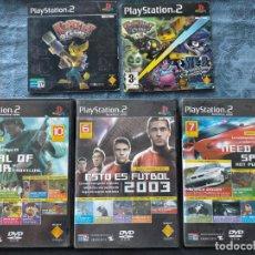 Videojuegos y Consolas: PACK DE CINCO JUEGOS DEMOS DE PLAY STATION 2: RATCHET AND CLANK MEDAL OF HONOR NEED FOR SPEED FUTBOL. Lote 275155558