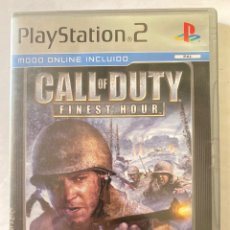 Videojuegos y Consolas: CALL OF DUTY FINEST HOUR PS2 PLAYSTATION 2. Lote 277017863