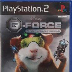 Videojuegos y Consolas: G-FORCE LICENCIA PARA ESPIAR. JUEGO PARA PS2. USADO, BUEN ESTADO. SIN MANUAL.. Lote 277064568