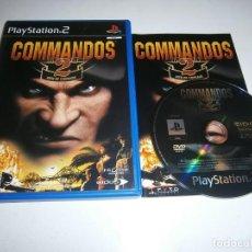 Videojuegos y Consolas: COMMANDOS 2 MEN OF COURAGE PLAYSTATION 2 PAL ESPAÑA COMPLETO. Lote 277664648