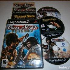 Videojuegos y Consolas: PRINCE OF PERSIA TRILOGY PLAYSTATION 2 PAL ESPAÑA COMPLETO. Lote 277664713