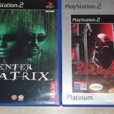 Videojuegos y Consolas: 2 JUEGO PS2 ENTER THE MATRIX Y DEVIL MAY CRY. Lote 277842763